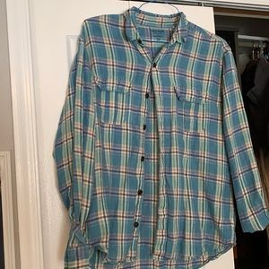 3 for $45! Men's lucky brand button up shirt Large